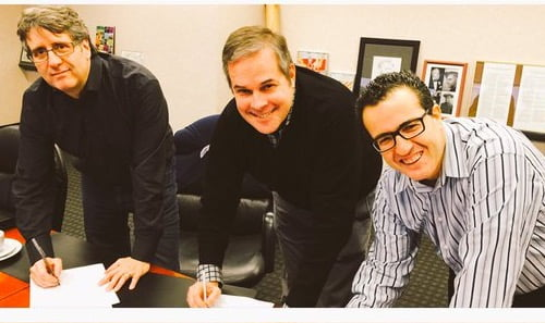 It's official! Meet the #FdnHouse partners! @MarcelLauziere @BruceGLawson and @aliweiWay (Dec. 2015)